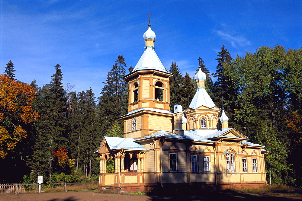 Russia, Ladoga Lake, Valaam Island, Ascension Church