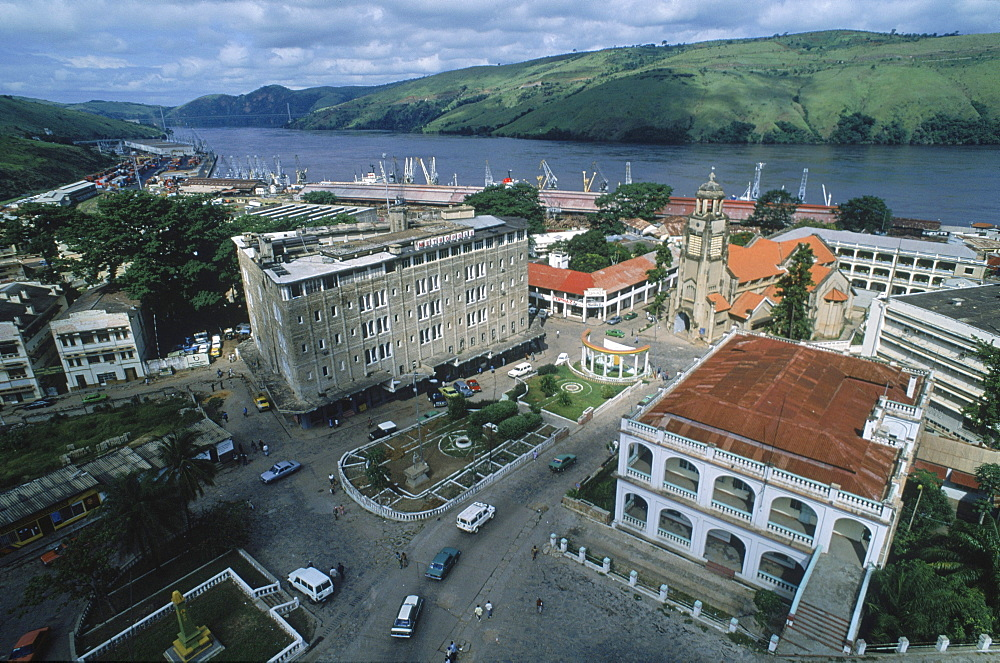 Matadi, the main port of Congo, on the banks of the Congo River upstream of the mouth of the river.