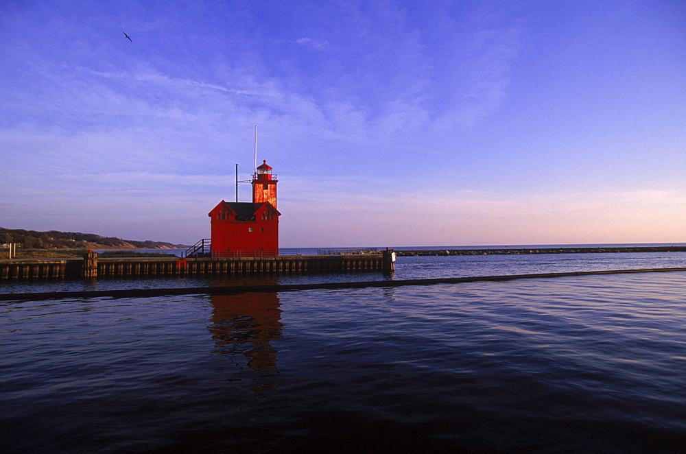 Holland Harbor Lighthouse.