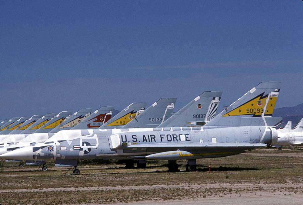 Aircraft in storage at Davis-Monthan Air Force Base, Tucson, Arizona