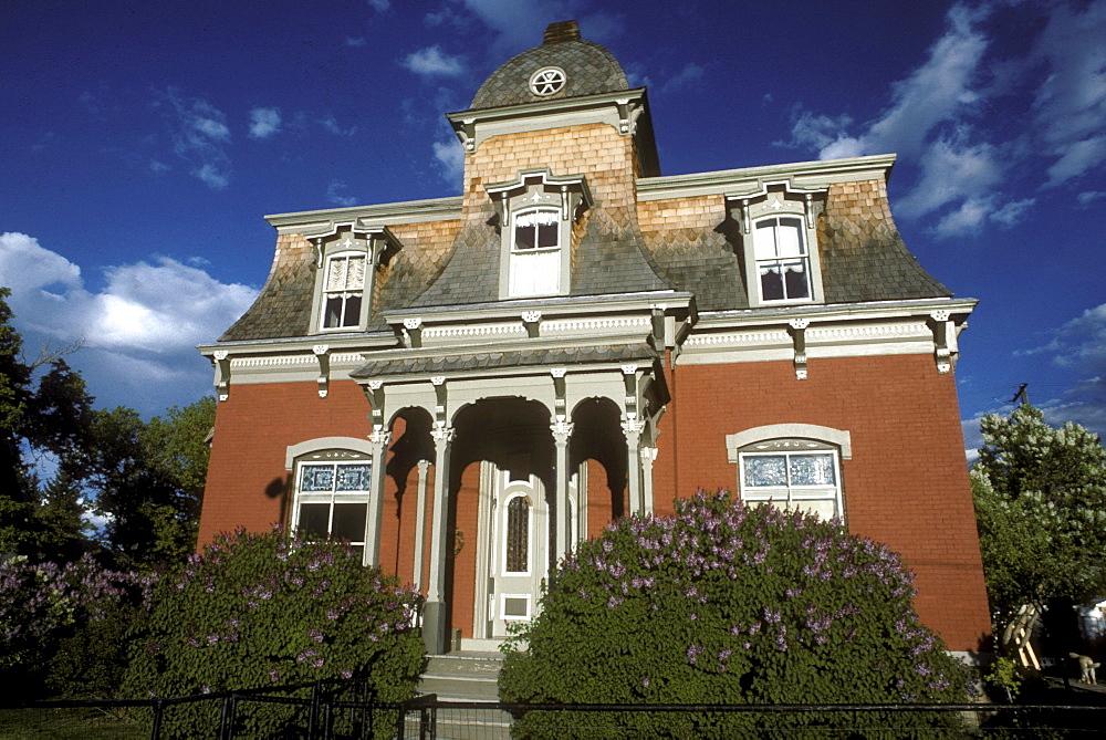 Victorian-era home with Mansard roof in Helena, Montana