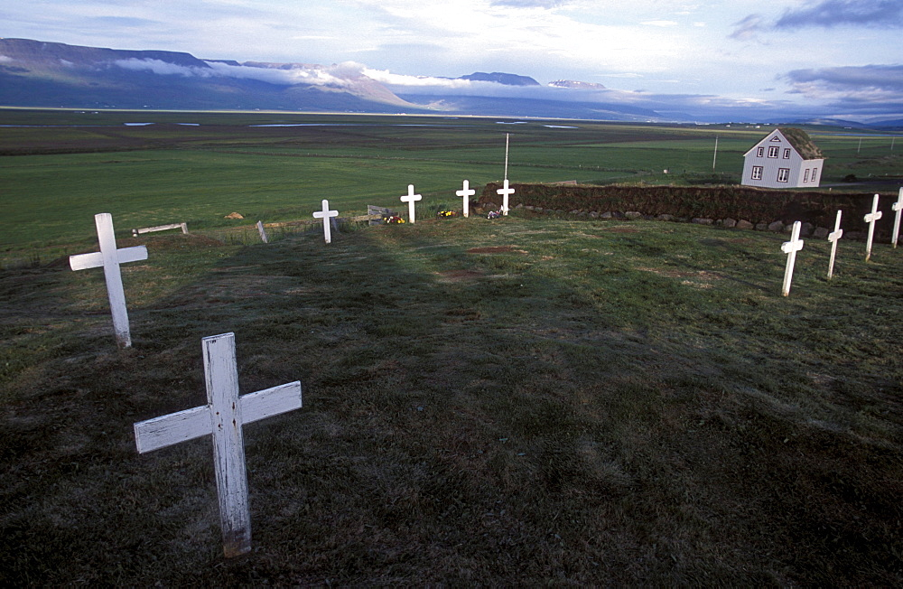 Cemetery at Glaumbaer, northcentral Iceland. An important discovery was made in Glaumbaer in 2001: the homestead of Thorfinn Karlsefni, the father of the first European born in the New World. This find has important implications for Viking history.