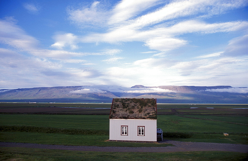 Historic building at Glaumbaer, northcentral Iceland. An important discovery was made in Glaumbaer in 2001: the homestead of Thorfinn Karlsefni, the father of the first European born in the New World. This find has important implications for Viking history.