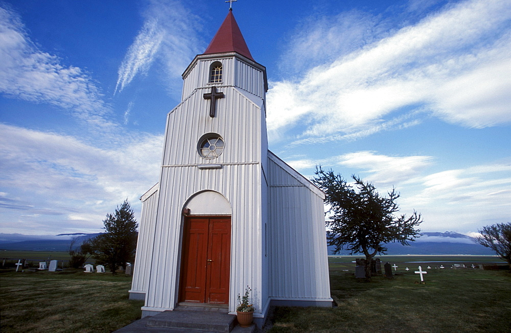 Small church at Glaumbaer, northcentral Iceland. An important discovery was made in Glaumbaer in 2001: the homestead of Thorfinn Karlsefni, the father of the first European born in the New World. This find has important implications for Viking history.