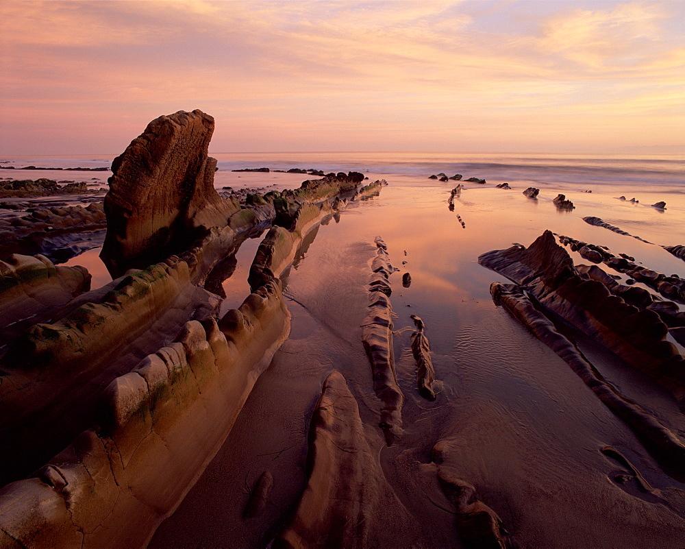 Beach at Sunset, Arroyo Burro State Beach, Santa Barbara, CA.