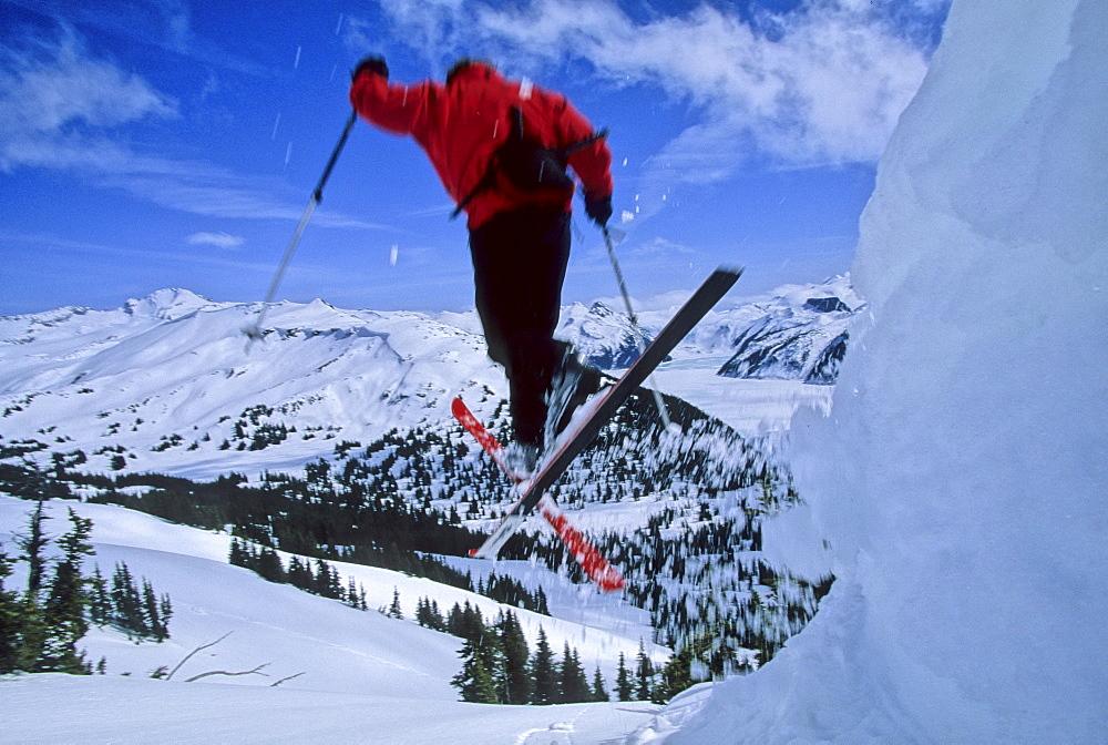Telemark skier Art Pearce descends a backcountry slope near the Black Tusk peak in Garibaldi Provincial Park, near Whistler.