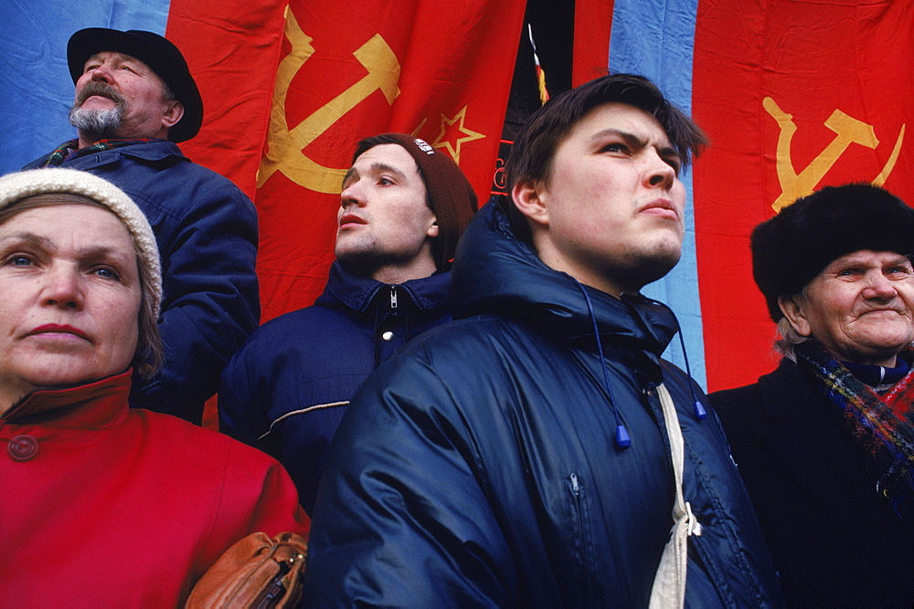 Communist supporters demonstrate for the return of Soviet Union.