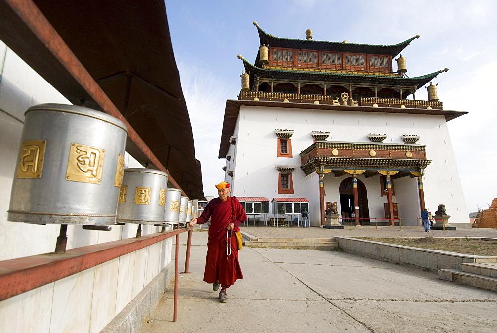Lama, Gandan Monastery, Ulaanbaatar, Mongolia