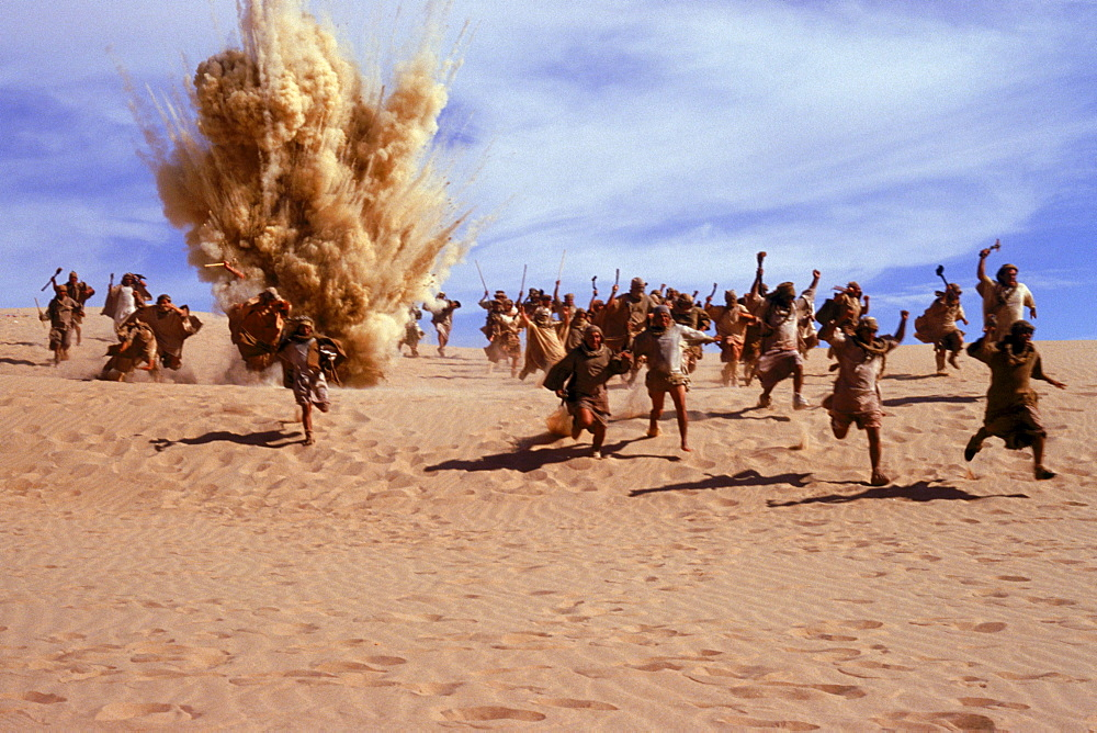 Scenes at the Stargate movie set in the Algodones Dunes.