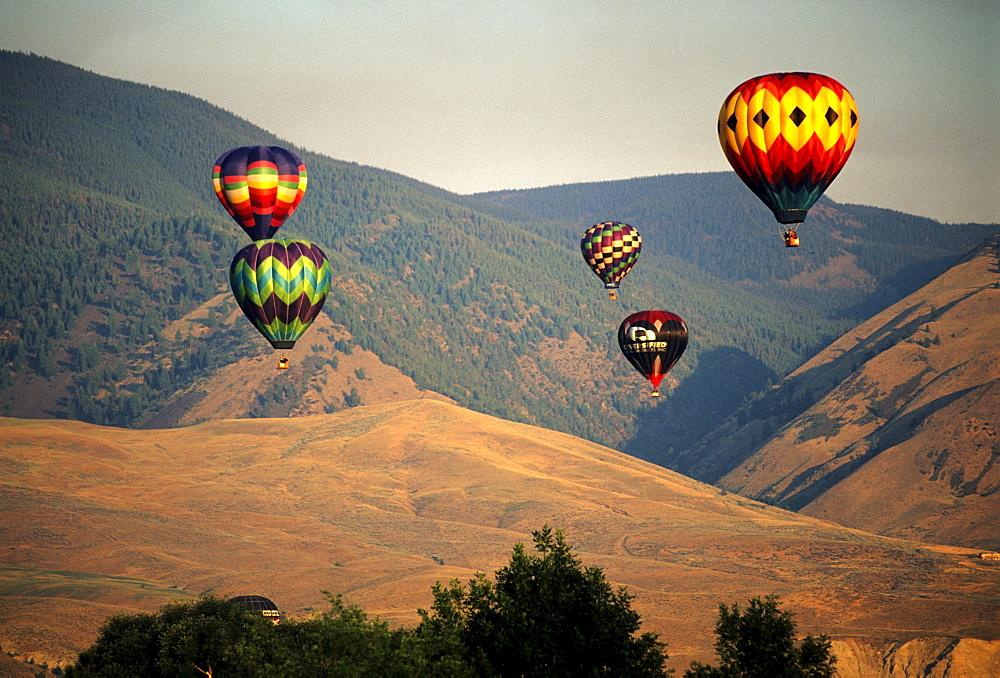 Hot Air Baloons at the Salmon Idaho Baloon Festival, Salmon ID