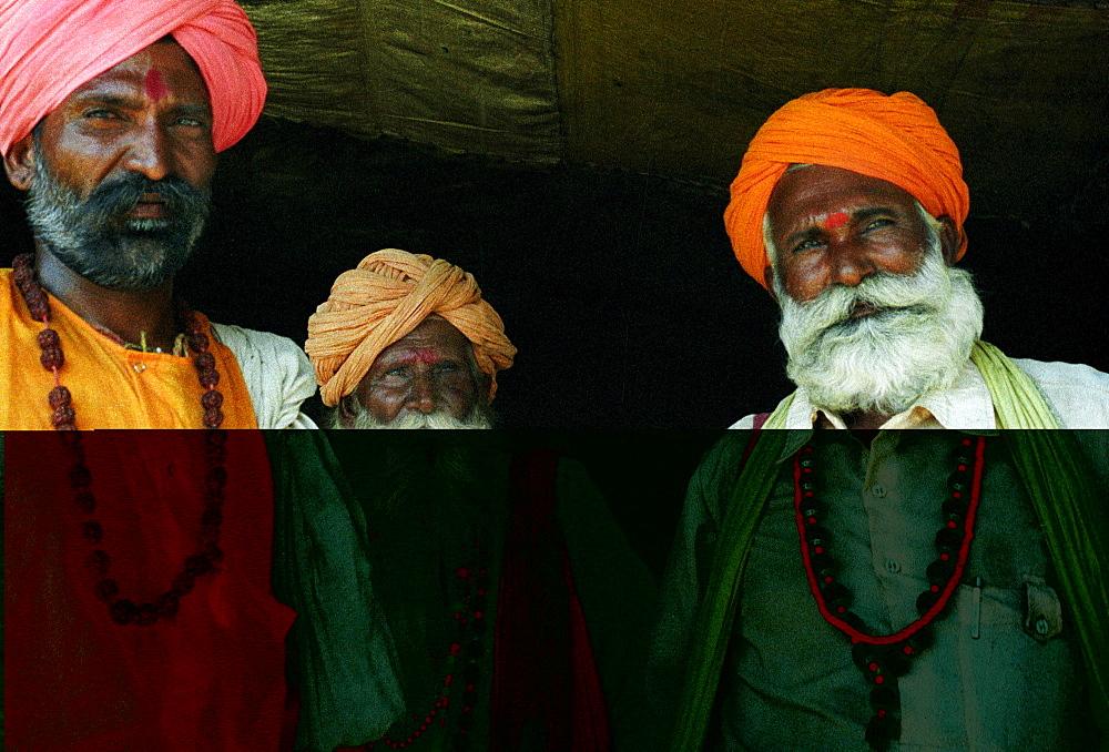 Indian Sadhu holy men in Jaipuur, Rajasthan, India