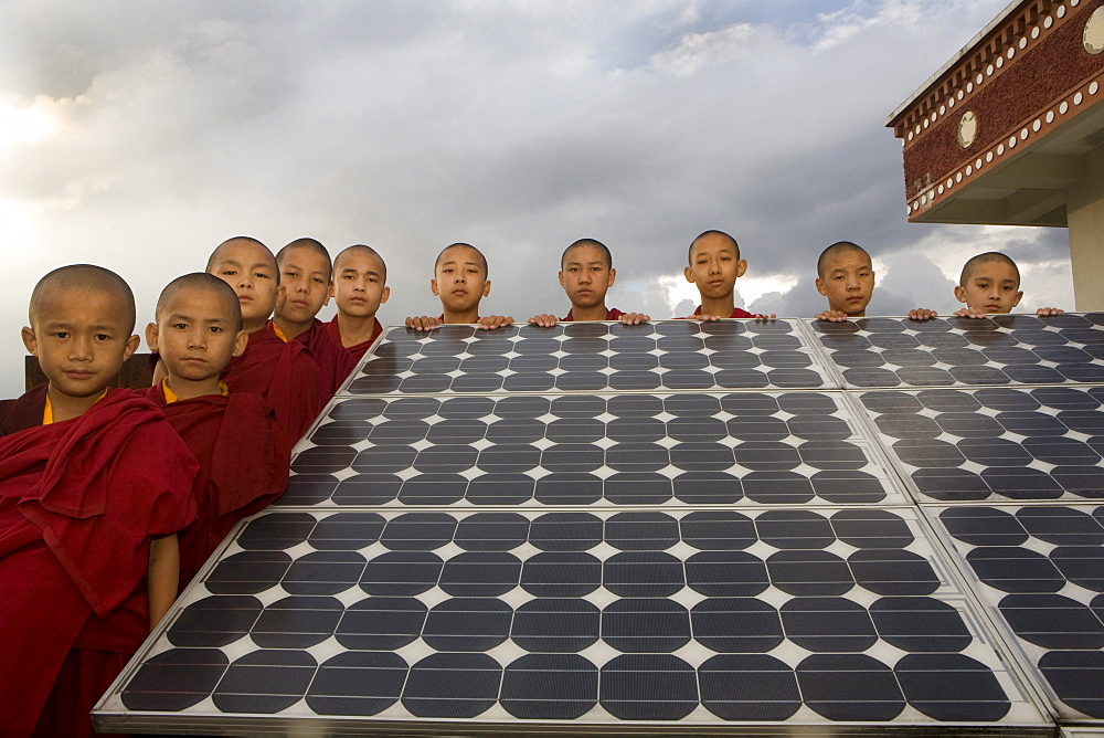Young nuns of Kopan Monastery, Kathmandu, Nepal. - 857-52159