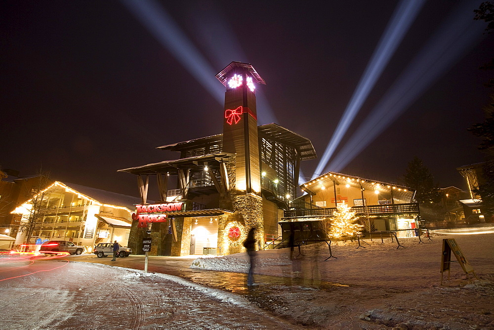 The grand opening celebration of a new aerial Tram at a resort in Jackson Hole, Wyoming.