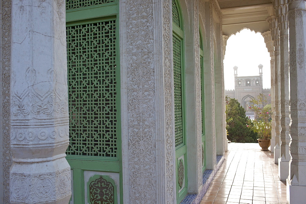 Amanishanan's Mausoleum in Altyn Mosque complex in Yarkand, Xinjiang, China.