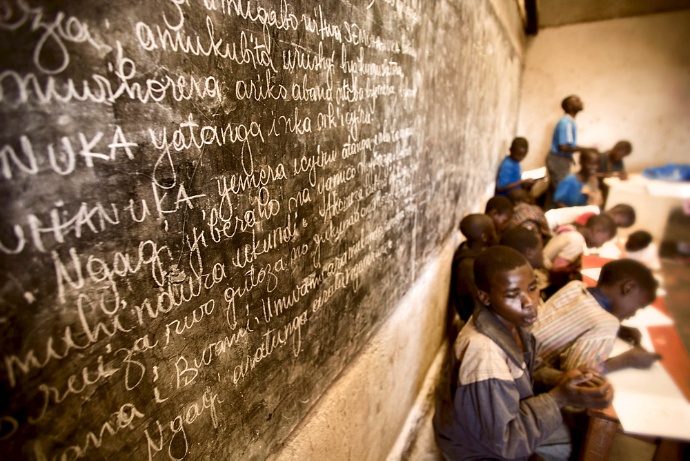 A one room school house in Rugerero Rwanda.