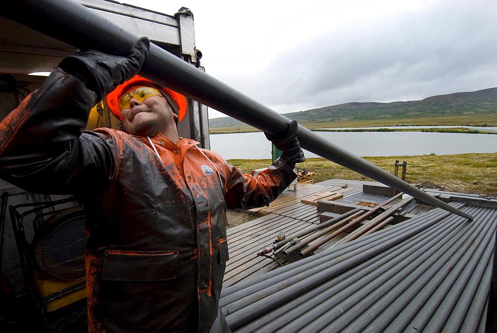 Drilling for core samples, Pebble mine, Illiamna, AK