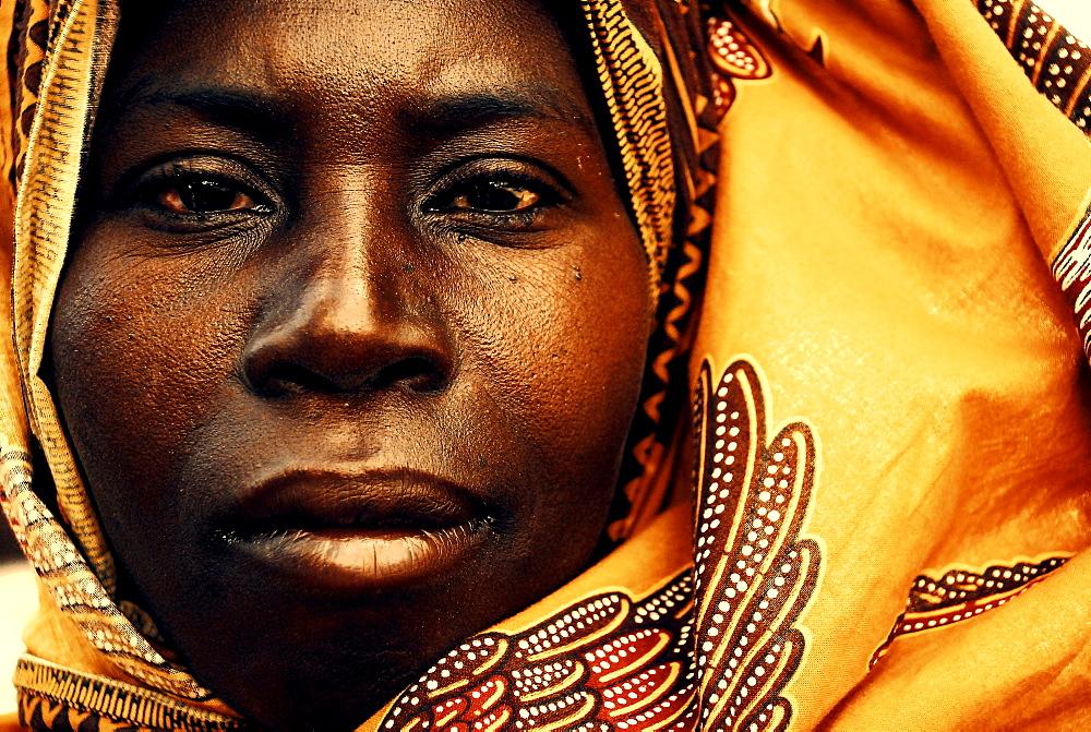 A portrait of a Muslim woman in Mocimboa da Praia, Mozambique.