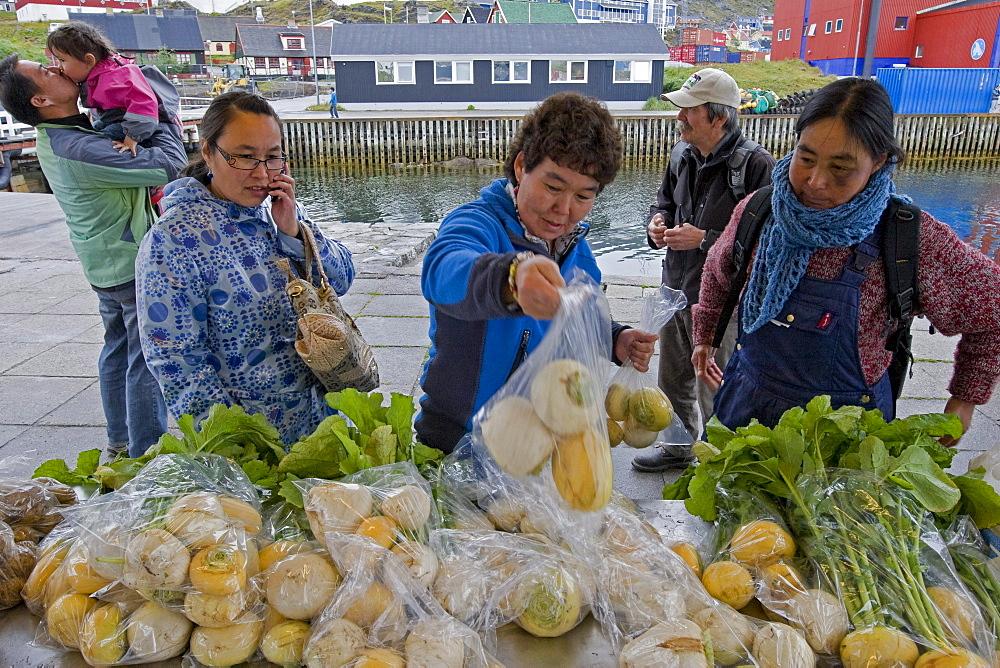 Farmers' Market in Qaqortoq, Greenland.