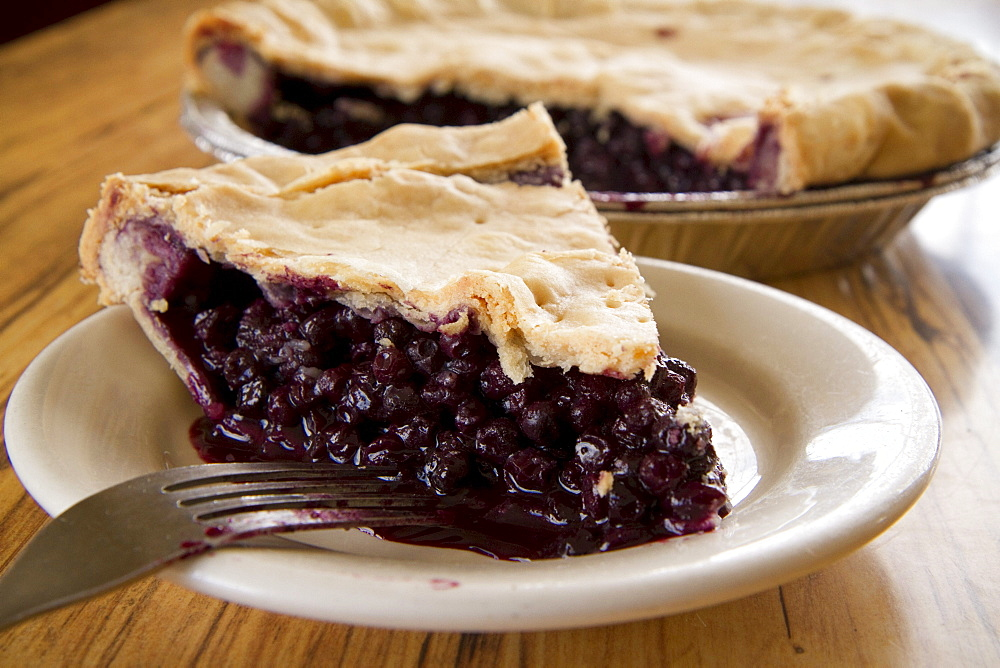Blueberry pie in New England.