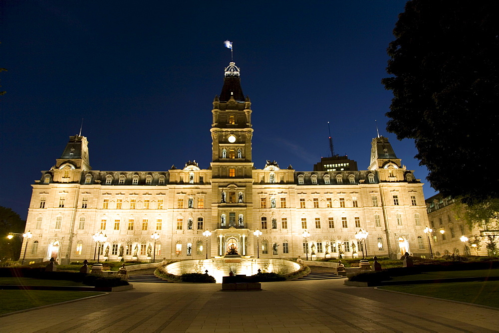 The National Assembly Building in Old Quebec; a World Heritage Site in Quebec; Canada.