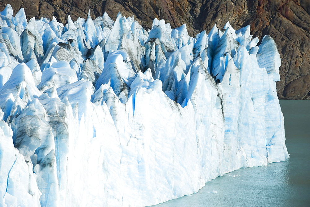 The Viedma Glacier terminating into Lago Viedma on February 25, 2008, Chalten, Argentina.