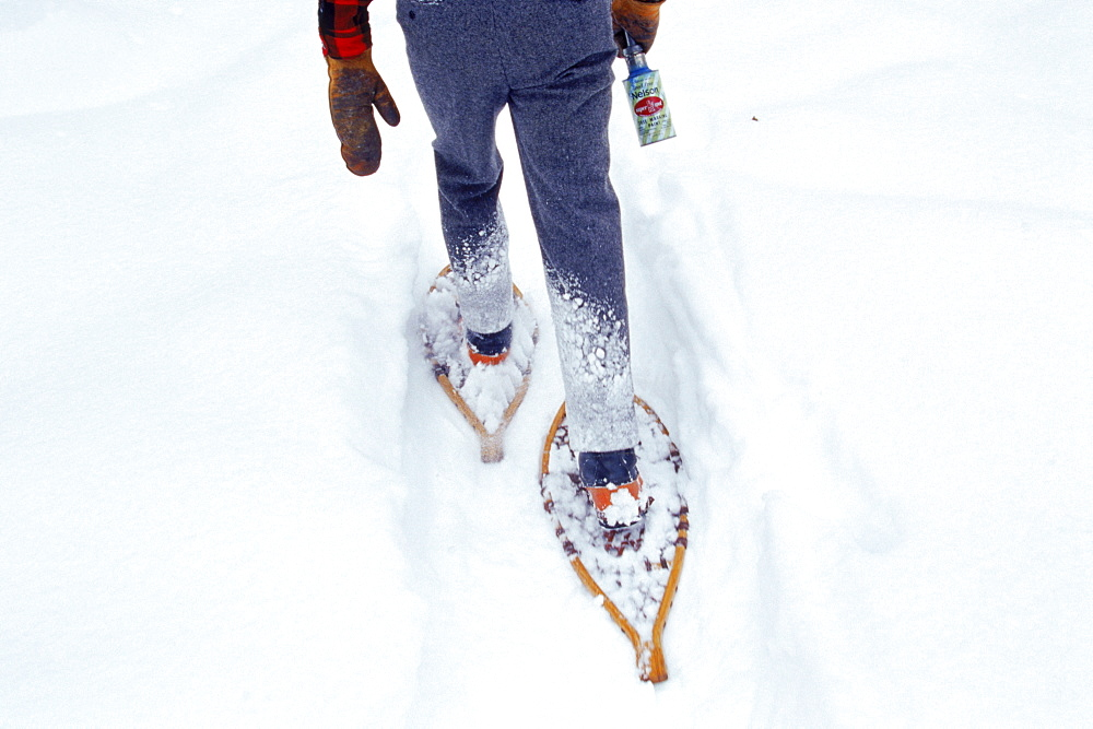 In Vermont, manual labor still gets done on snowshoes.