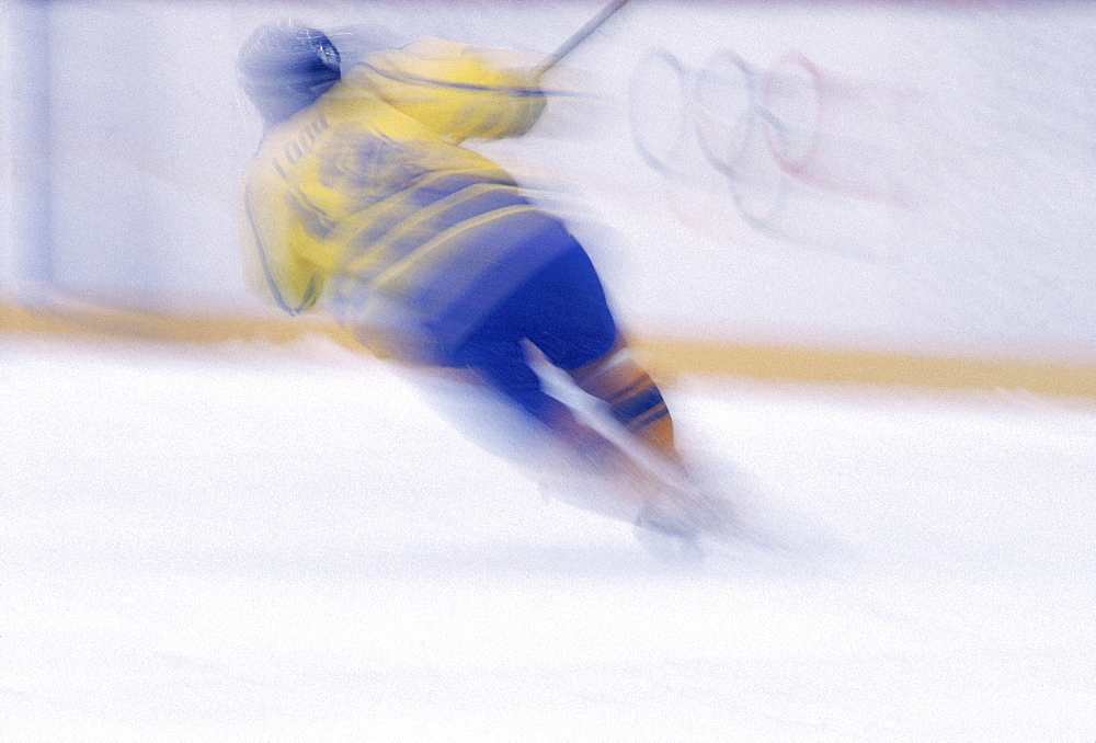 Hakon Hall: Ice Hockey: Gold Medal Team - SWE - play Silver Medal Team - CAN - in final game.