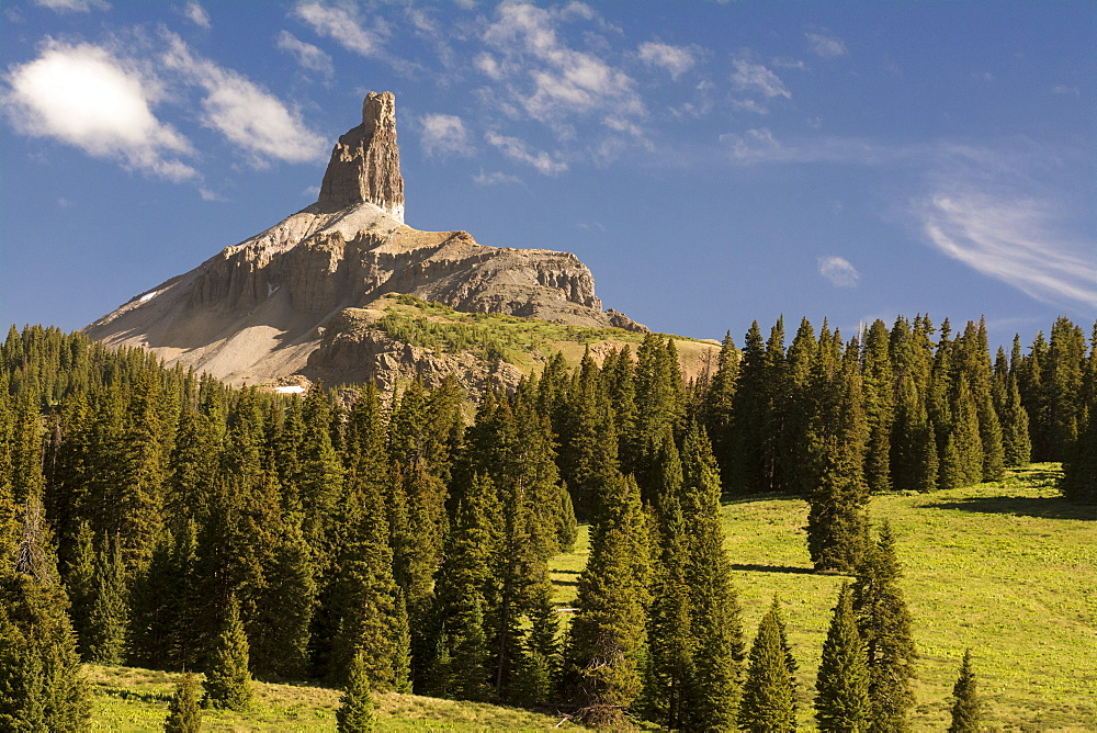 Lizard Head Peak, a conglomerate spire with an historically difficult summit to ascend, Lizard Head Wilderness, San Juan National Forest, Tellluride, Colorado, Telluride, Colorado, usa