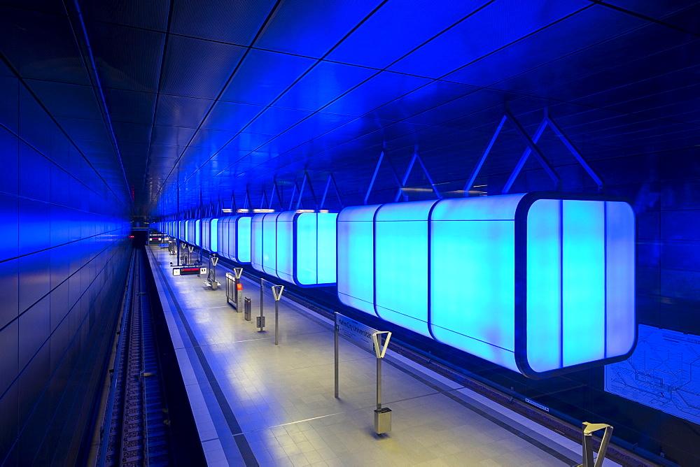 HafenCity Universität station on U4 U-Bahn line, HafenCity, Hamburg, Germany