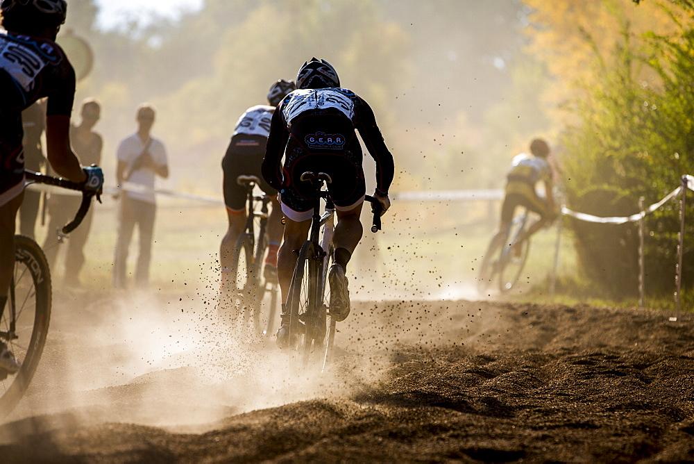 CX racing Valmont Bike Park, Boulder. Through the sand pit.