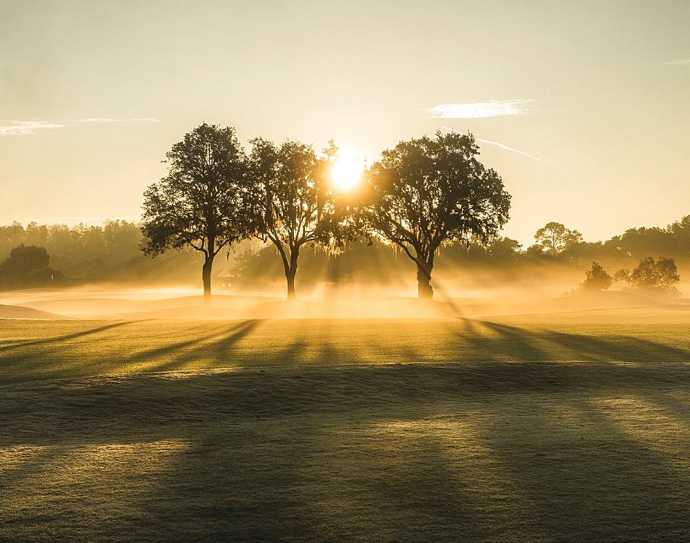 Sunrise on a golf course