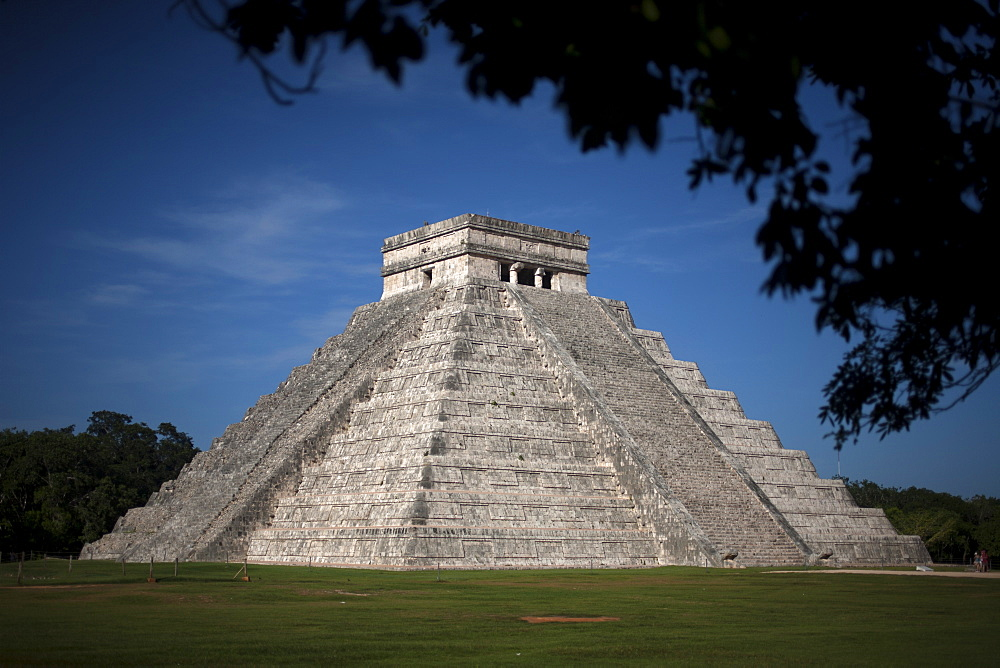 The Temple of Kukulkan, the Feathered Serpent god, in the Mayan city of Chichen Itza, Yucatan Peninsula, Mexico