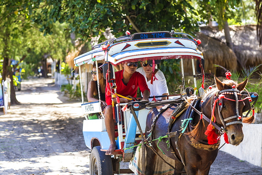Eco transport on tropical islands Gili,Indonesia