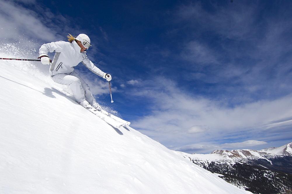 Hannah Hardaway skiing at Loveland, Colorado, United States of America