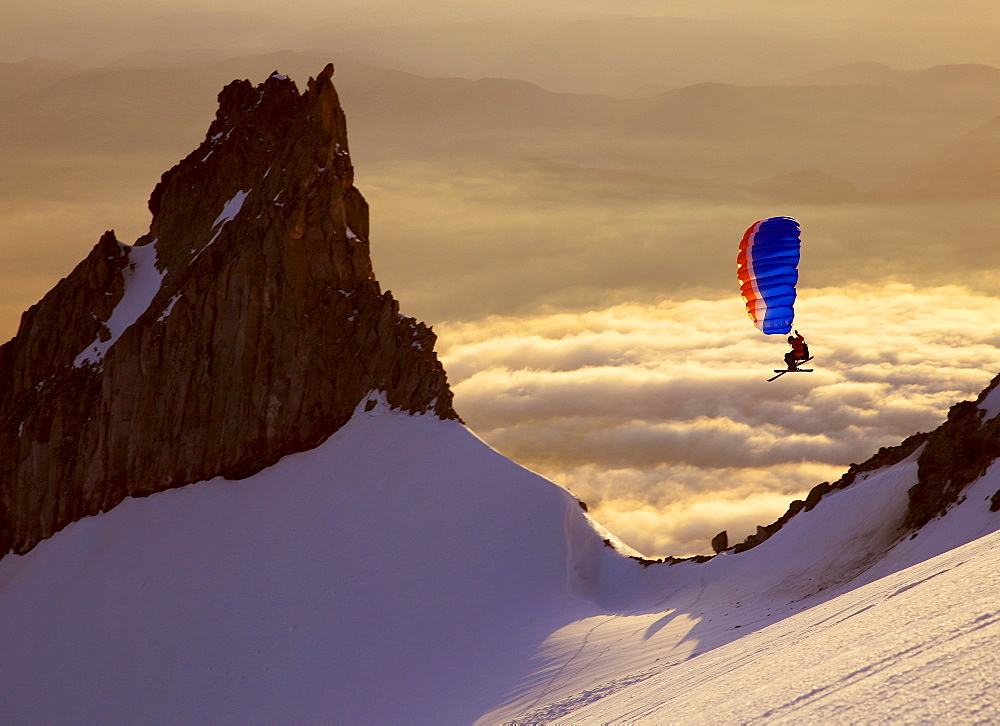 Backcountry adventurer gets his wings flying the Nano on the south side of Mt Hood, United States of America