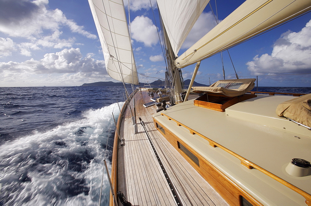 View from the deck of a  W-Class Yacht
