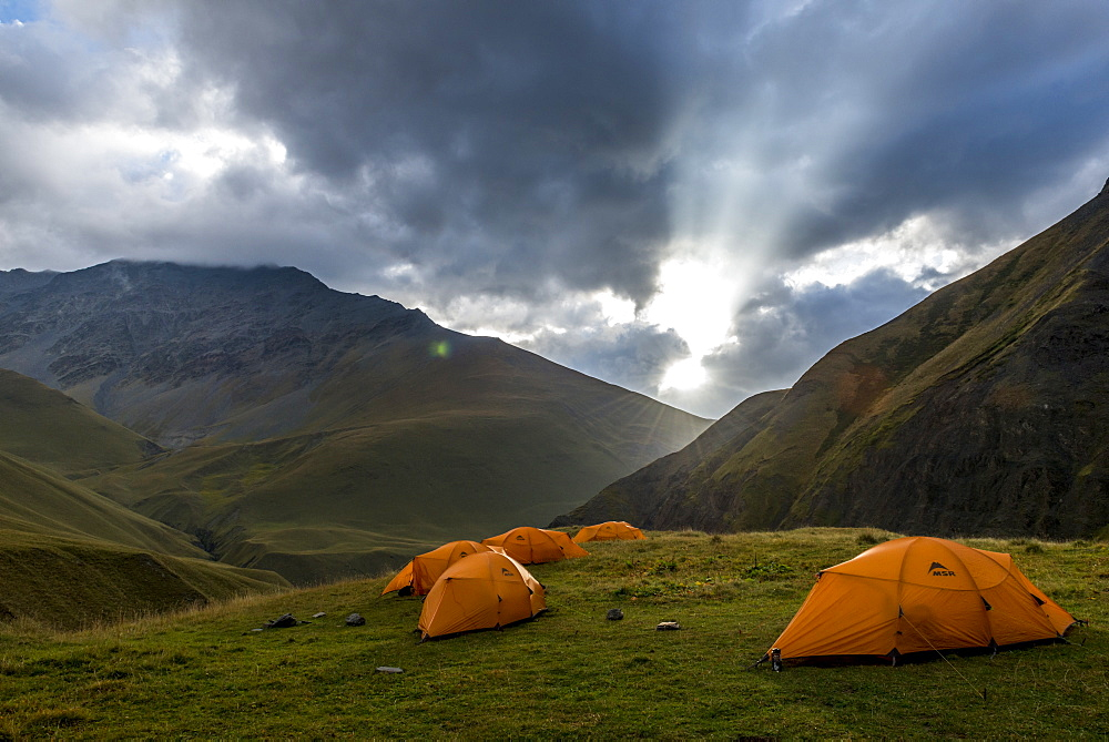 camp in the National Park of Tusheti