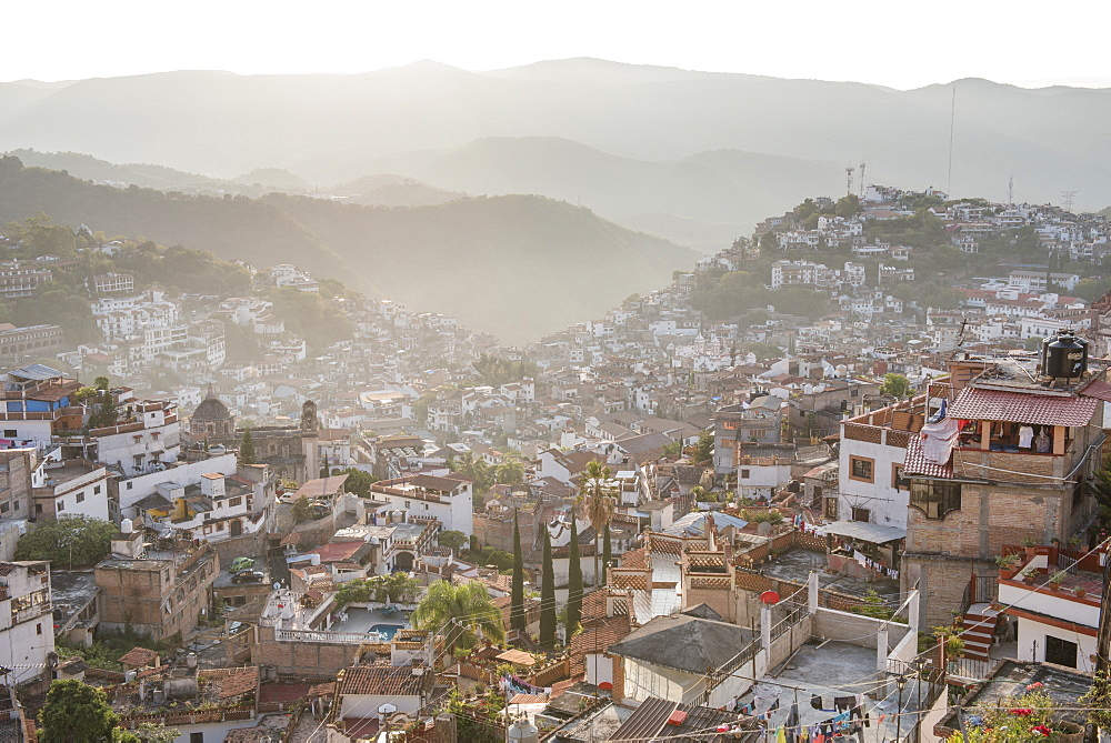 "The ""Pueblo Magico"" of Taxco, Guerrero, Mexico, is bathed in the early morning light."