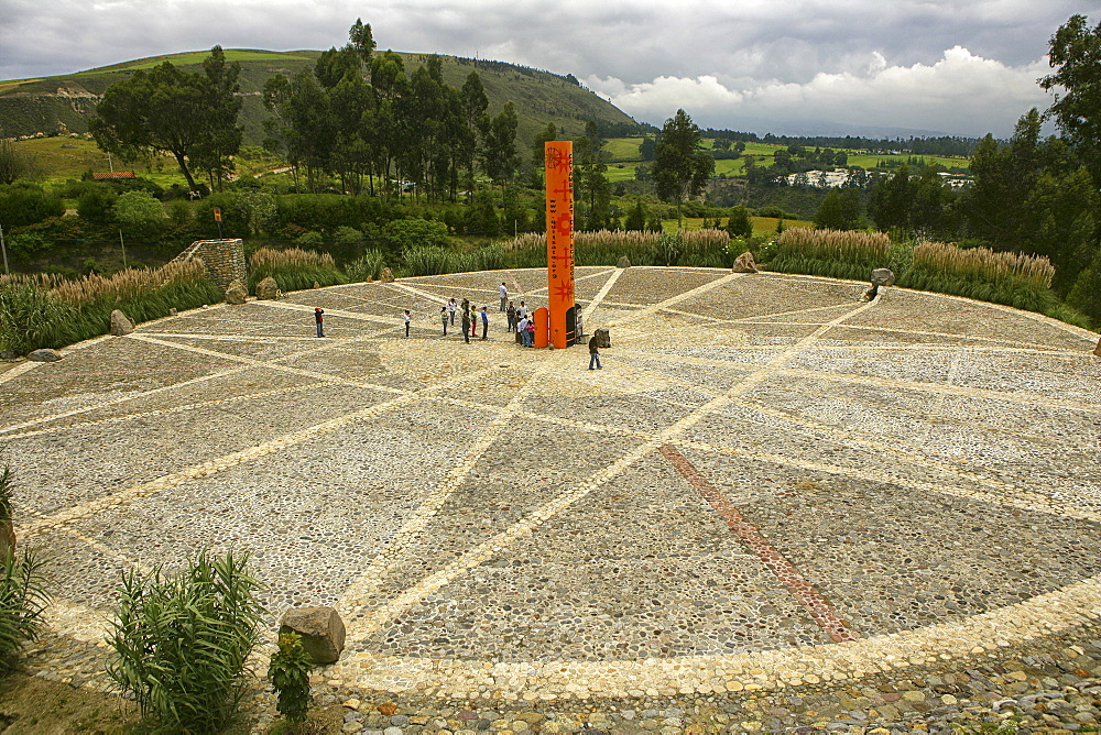 The equator line Äquator aequator QUITO ECUADOR border bound boundary line Quito Ecuador capital, city, outside, south america,