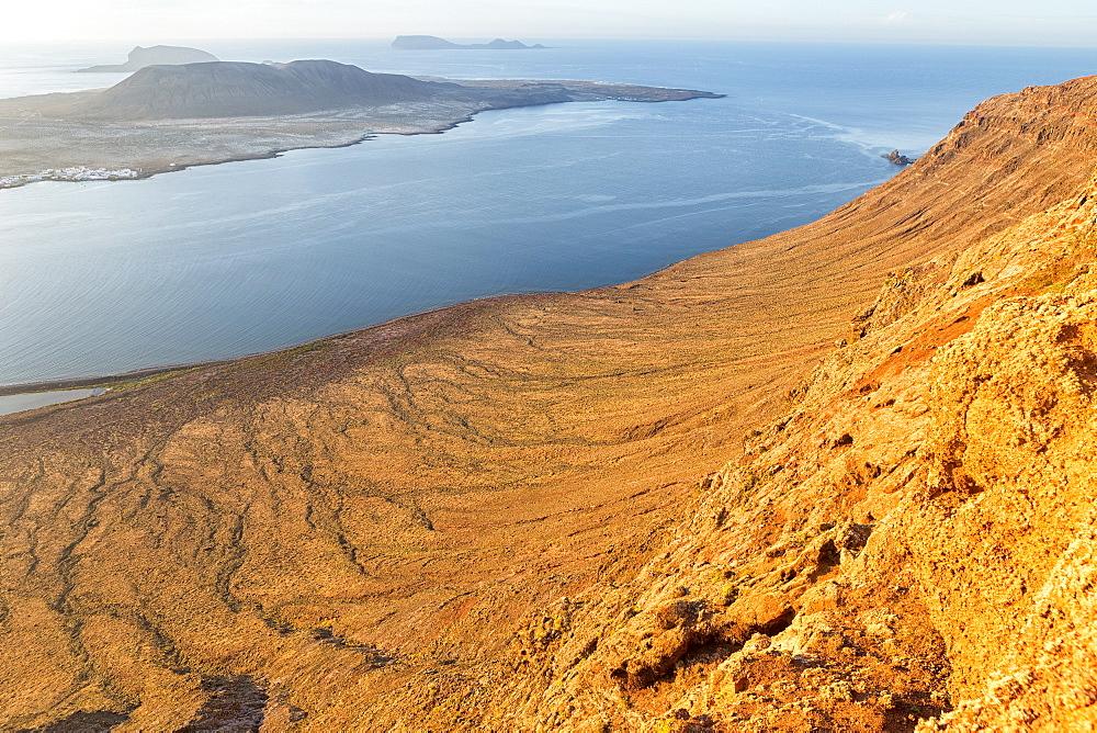 Isla Graciosa and Mirador del Rio, Lanzarote, Canary Islands, Spain, Europe