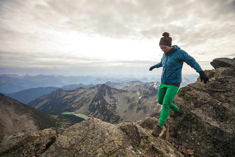 Female Hiker Hiking In Mount Marriott