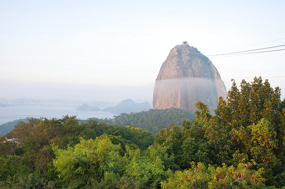 Scenic view of Sugarloaf mountain in Brazil