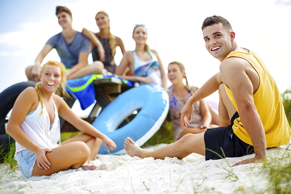 Group Of Friends Enjoying Together On Sand - 857-93303