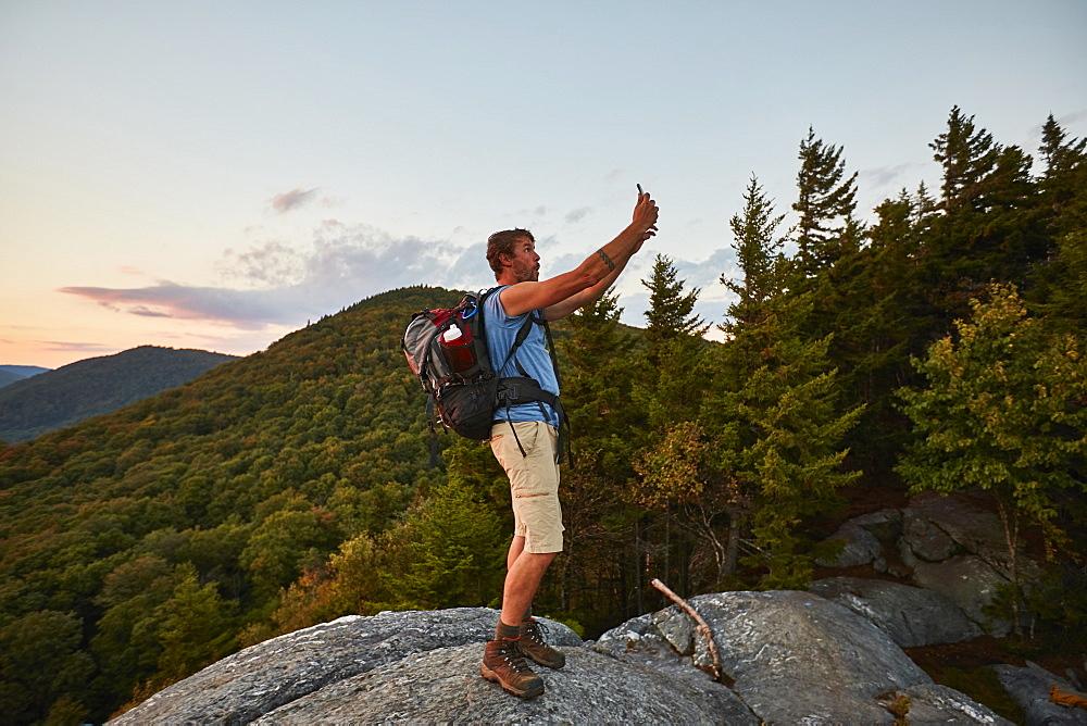 A Man Taking Selfie While Hiking Along The Appalachian Trail - 857-93505