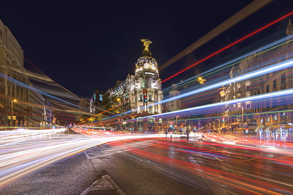 Metropolis Building Or Edificio Metropolis On The Street Of Gran Via, Madrid