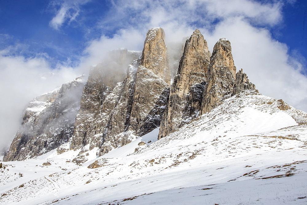 Landscape Near The Sella Pass, Italy