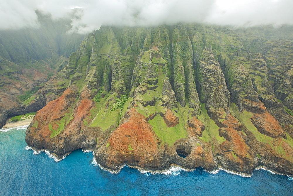 Aerial View Of Na Pali Coast On The Hawaiian Island Of Kauai