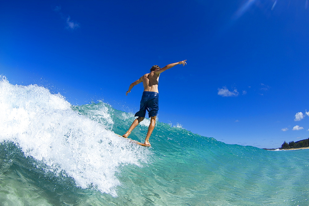 Lucas Dirske Bodysurfing At Pupukea Sandbar On The North Shore Of Oahu