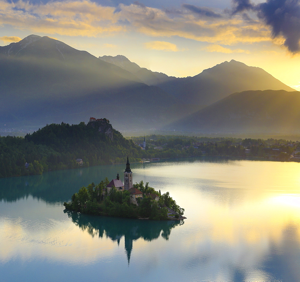 Scenic View Of Lake Bled And Bled Island In Slovenia