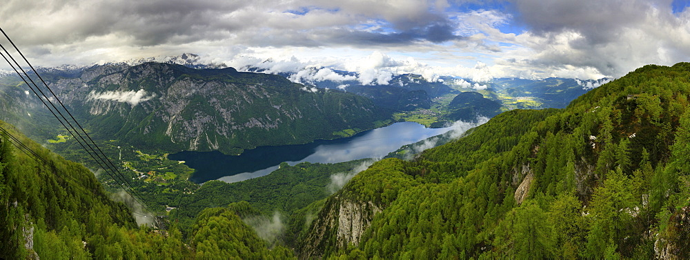 Cable Car Lookout Over Bohinjsko Valley And Bohinjsko Jezero Lake
